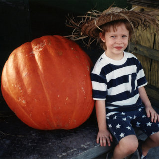 Audrey   the Giant Pumpkin 1994